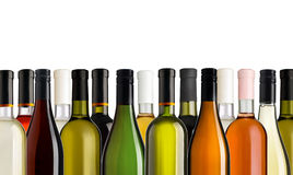 3d разливает модельное белое вино по бутылкам Стоковое фото RF