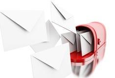3d раскрывают почтовый ящик с НА знаком Стоковые Изображения RF