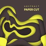 3D резюмируют бумажный стиль искусства, план дизайна для представлений дела, рогулек, плакаты, печати, украшение, карточки, крышк иллюстрация вектора