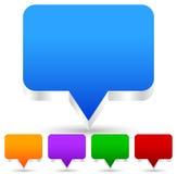 3d речь, значки пузыря беседы (смогите быть использовано как штыри карты, marke карты бесплатная иллюстрация