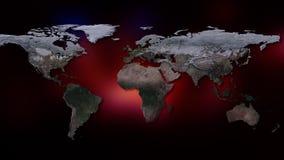 3d создало изображение иллюстрации земли большинств перевод планеты части NASA Вы можете увидеть континенты, города Элементы этог Стоковые Изображения