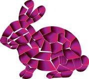 3D текстура, розовый дизайн кролика иллюстрация вектора