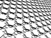 3D фракталь - поверхность сделанная регулярн малых и больших шестиугольников бесплатная иллюстрация