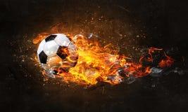 2d футбол графиков пожара конструкции компьютера шарика стоковые фотографии rf
