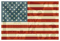 3d флаг США Стоковая Фотография RF