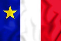 3D флаг Acadia, Канада иллюстрация штока