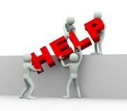3d люди - концепция помощи и поддержки Стоковые Фото