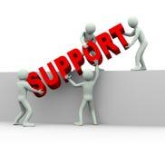 3d люди - концепция помощи и поддержки Стоковые Изображения