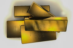 1 3d 9 999个棒概念金子kg 库存例证