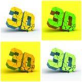 3D. 传染媒介例证。 库存图片
