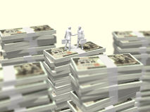 3D财务的例证 免版税图库摄影
