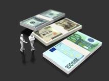 3D财务的例证 库存例证