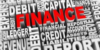 3d财务词标记的概念 库存照片