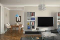 3d - 客厅-内部概念 库存照片