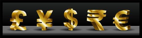 3D货币符号