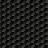 3d黑抽象背景 几何无缝 免版税图库摄影