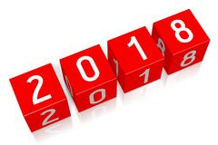 3D 2018新年例证 库存例证