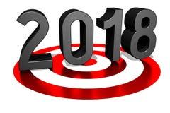 3D 2018新年例证 向量例证