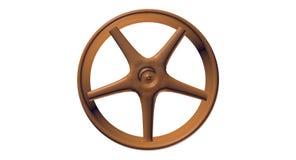 3D黑暗木Spoked轮子 库存图片