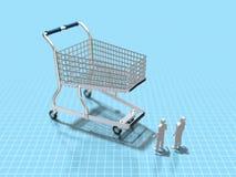 3D购物的例证 库存例证