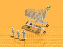 3D购物的例证 向量例证