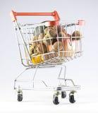 3d购物车被生成的图象购物 免版税库存图片