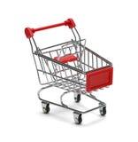 3d购物车被生成的图象购物 图库摄影