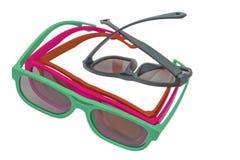 3D玻璃现代戏院视觉 免版税库存图片