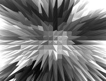 3D黑白尖刻的金字塔有俯视图 库存照片