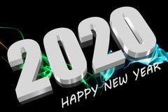3D 2020白色 库存图片