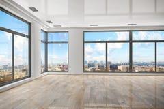 3d - 空的室-公寓 免版税库存照片