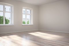 3d - 空的室-公寓 免版税库存图片