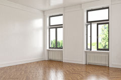 3d - 空的室-公寓 免版税图库摄影