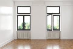 3d - 空的室-公寓 库存图片