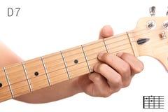 D统治第七个吉他弦讲解 免版税库存图片