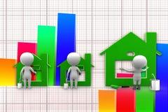 3d建筑壁画完整例证 免版税库存照片