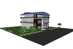 3D建筑学办公楼 库存照片