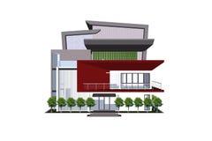 3D建筑学大厦 库存照片