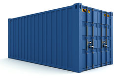 3D货箱的例证在白色隔绝的 向量例证