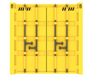 3D货箱的例证在白色隔绝的 库存例证