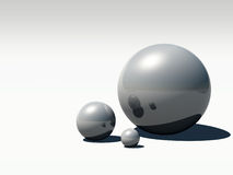 3D黑色珍珠 库存照片