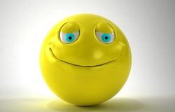 3d黄色面带笑容 免版税库存图片