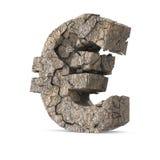 破裂的欧元 免版税库存照片