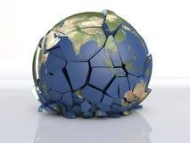 3D破裂地球 图库摄影