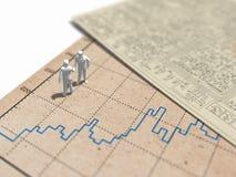 3D统计座标图纸和电路图的例证 免版税库存照片