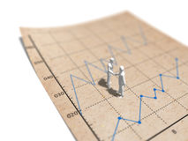 3D统计座标图纸的例证 向量例证