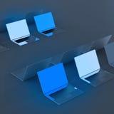 3d系统计算机顶视图  免版税库存照片