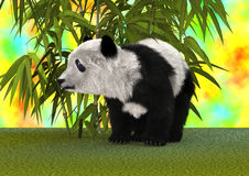 3D翻译熊猫 图库摄影