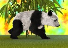3D翻译熊猫 免版税库存图片