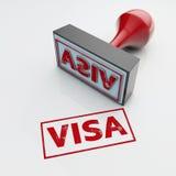 3d翻译难看的东西邮票在丝毫和版本记录隔绝的签证封印 免版税库存照片